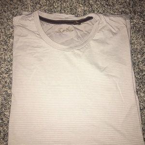 Gray/White Striped T-shirt - XL
